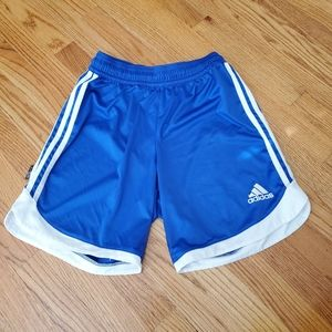 Adidas Boys Youth Athletic Shorts Size Medium Blue